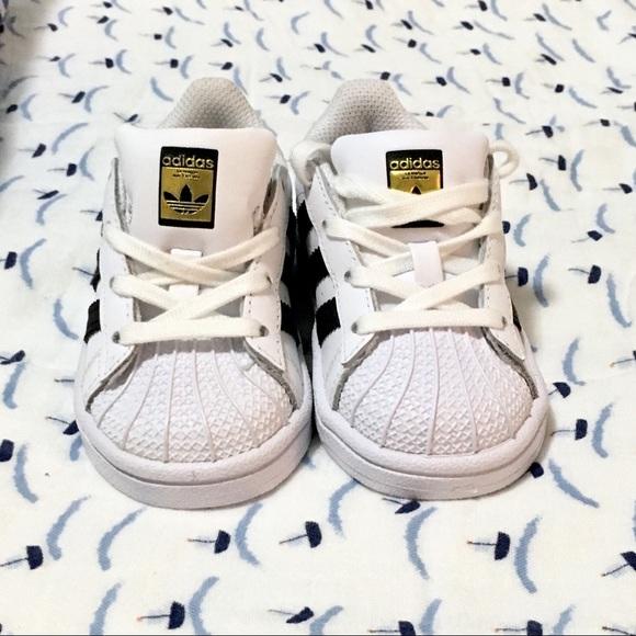 9ec76c9dc94 adidas Shoes | Nib Superstar Black White Toddler 5 C77913 | Poshmark